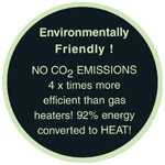 The Heatmaster range of patio heaters are environmentally friendly.