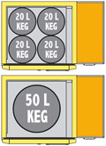 Gamko Keg Cooler FK25/4 - Keg Capacity