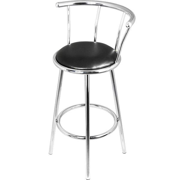 Chrome swivel bar stools barmans
