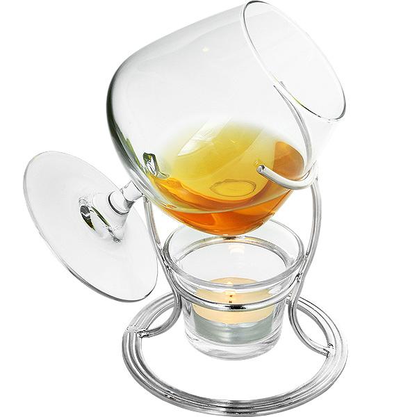 cognac brandy warmer glass traditional brandy warmer. Black Bedroom Furniture Sets. Home Design Ideas