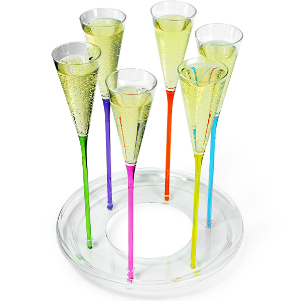 Acrylic Ice Bucket With Champagne Flutes