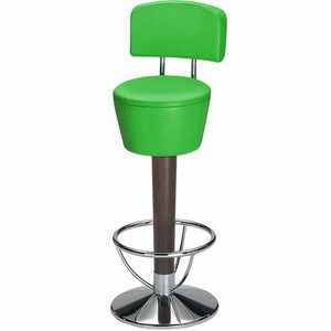 Pienza chrome and beech swivel bar stool with back #1#Sherwood Green Single#2#