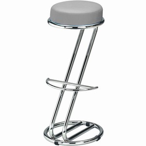 Zeta Chrome Bar Stool (Grey Single)
