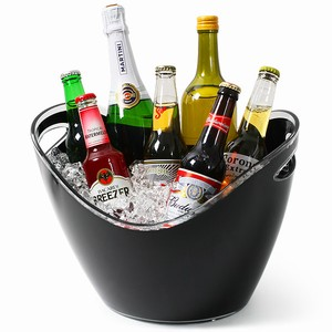 Black Acrylic Drinks Pail