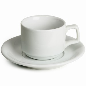 Royal Genware Stacking Cups & Saucers 7oz / 200ml