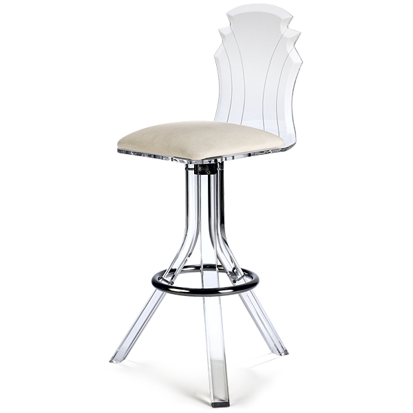 Tiffany Acrylic Bar Stool Domestic Bar Stools Barmans