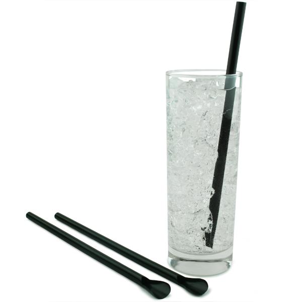 Fast Food Restaurants Black Straws