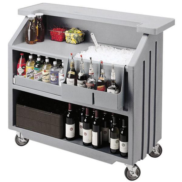 Portable Bars For The Home: Cambro Portable Bar 540 Light Grey