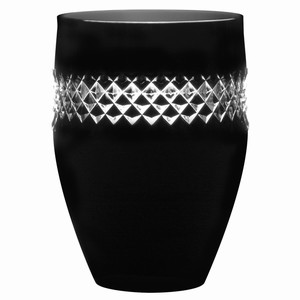 John Rocha Black Cut Tumbler Glasses 14.8oz / 420ml