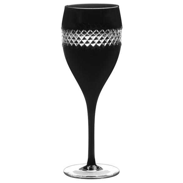 John rocha black cut red wine glasses 380ml Designer wine glasses uk