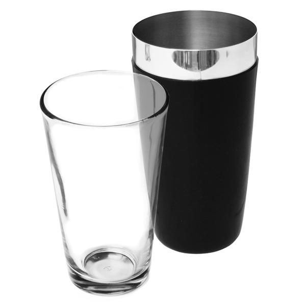 Vinyl Boston Cocktail Shaker Black | Professional Boston Shaker Boston Bar Shaker - Buy at Barmans