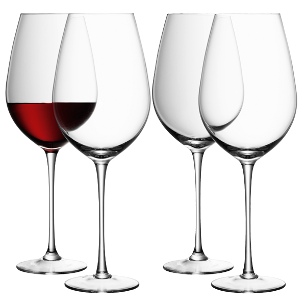 Lsa wine collection red wine goblets 850ml for Large red wine glass