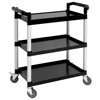 Compact 3 Tier Polypropylene Trolley