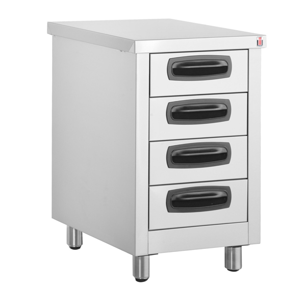 Inomak stainless steel drawer units kitchen drawers for Stainless steel drawers kitchen