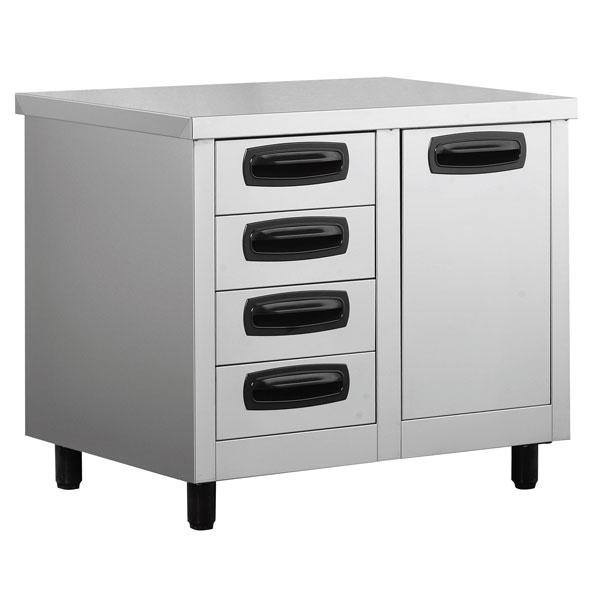 Inomak stainless steel drawer units kitchen drawers for 800 kitchen drawer unit