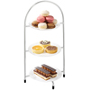 Utopia Chrome 3 Tier Cake Plate Stands