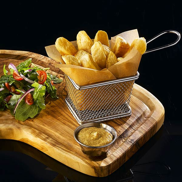 Tiny Kitchen Fish And Chips: 6 Pack Mini Chrome Chip Fryer Serving Food Presentation Basket By Kitchen Stars