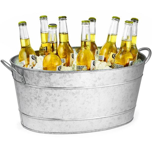 Galvanised Steel Oval Beverage Tub Party Tub Drinks