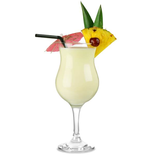 Capri pina colada cocktail glasses 13oz 375ml pina for Cocktail pina colada