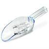 Plastic Drainer Ice Scoop Clear 7oz