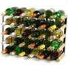 Traditional Wooden Wine Rack - Pine and Black Steel