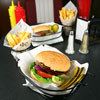 Retro Burger and French Fry Basket