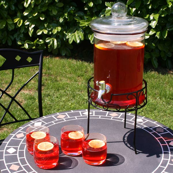 Round Drink Dispenser With Stand 168oz 48ltr Beverage