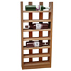 Scallop Wine Rack Dark Oak