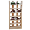 Scallop Wine Rack Light Oak