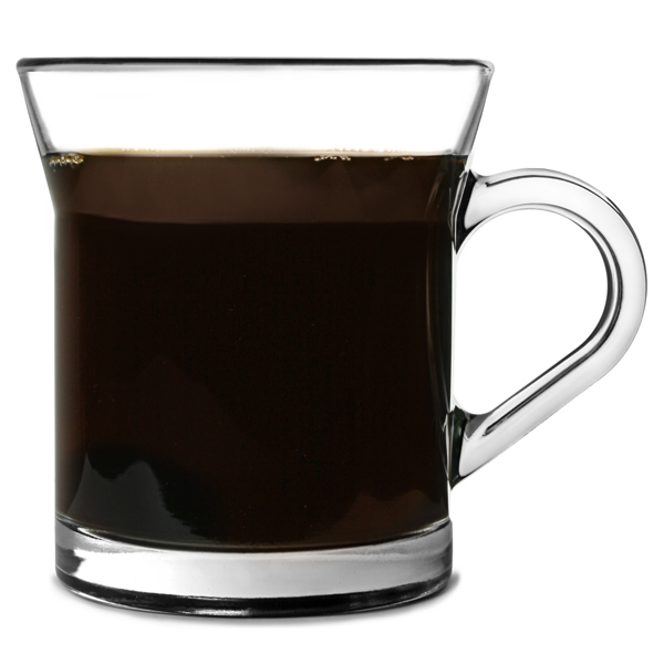 Miami Glass Coffee Mugs 320ml