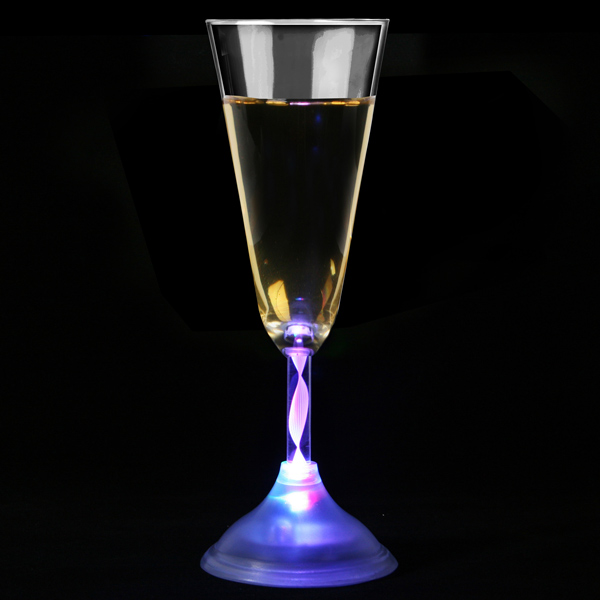 Flashing champagne flute 6oz 170ml - Flute a champagne led ...
