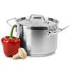 Genware Small Stainless Steel Stewpans & Lids