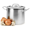 Small Stainless Steel Stockpots & Lids