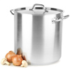 Large Stainless Steel Stockpots & Lids