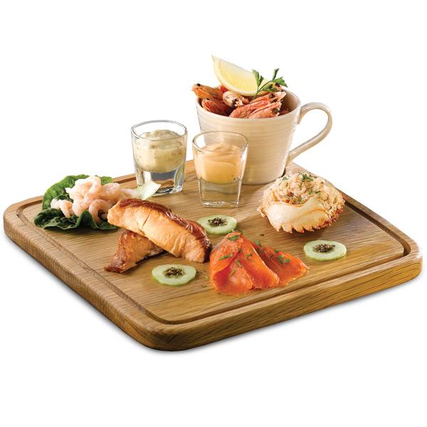Art de cuisine rustic oak boards square wooden board for Art cuisine cookware reviews