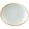 Churchill Stonecast Duck Egg Oval Plate 21cm