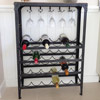 Pewter Wine Rack 24 Bottle