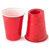 180-Cup Red American Party Cup and Shot Glass