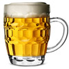 Polycarbonate Plastic Dimple Beer Tankards CE 20oz / 568ml