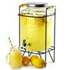 Yorkshire Mason Jar Drinks Dispenser with Stand 8ltr