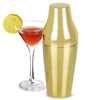 47 Ronin Two Piece Cocktail Shaker Polished Brass 14oz
