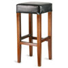 Wooden Cuboid Bar Stool Black