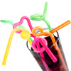 Super Bendy Straws 11inch Neon