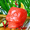 Mexican Day of the Dead Skull Mug Red 17.6oz / 500ml