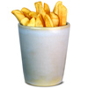 Rustic Conical Chip Cup 10cm
