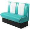 Retro Diner Booth Double Seat Duck Egg Blue