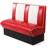 Retro Diner Booth Seat Red