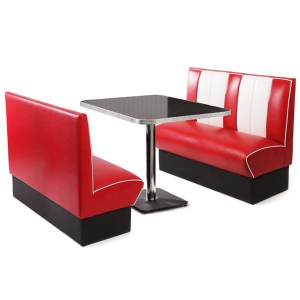 retro diner booth set red diner seating retro furniture buy at