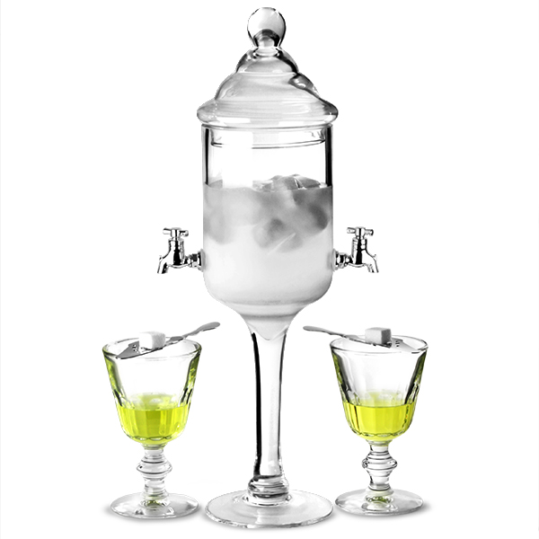 Vintage Glass Absinthe Fountain for Serving Absinthe
