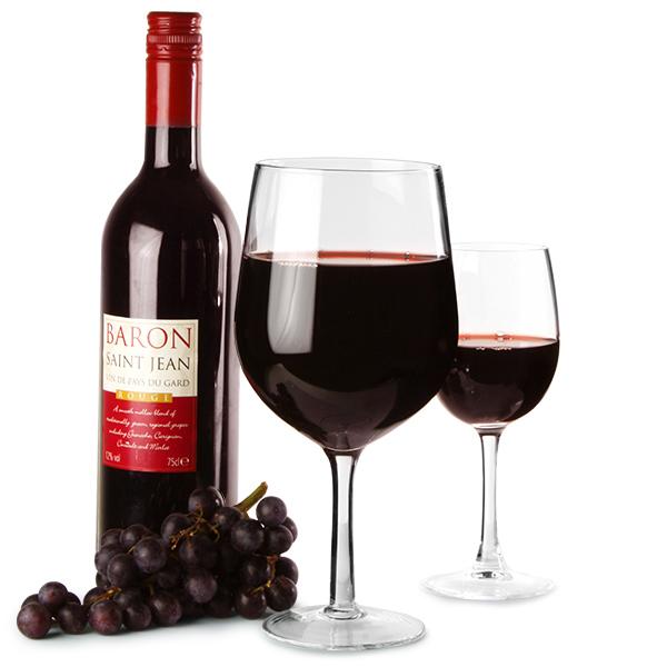 Wine Bottle In A Glass Glass Giant Wine Glass Novelty